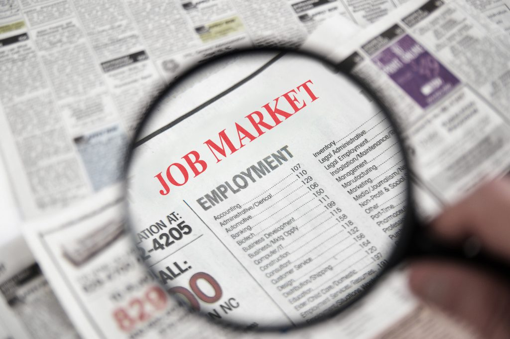 newspaper add for finding employment